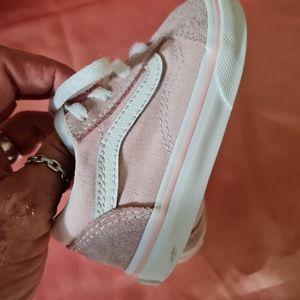 Vans toddler pink sneakers sz 5T